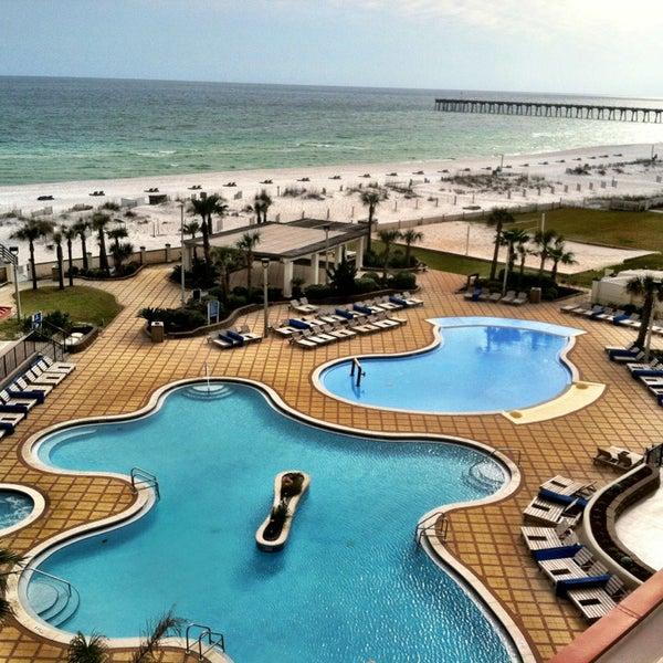 Photo taken at Hilton Pensacola Beach by Brad S. on 3/1/2013