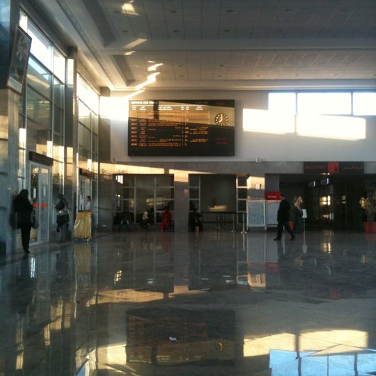 Photo taken at Gare de Mohammédia  محطة المحمدية by Yasser M. on 1/19/2012