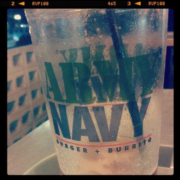 Photo taken at Army Navy Burger + Burrito by John Aldrich Q. on 10/7/2012