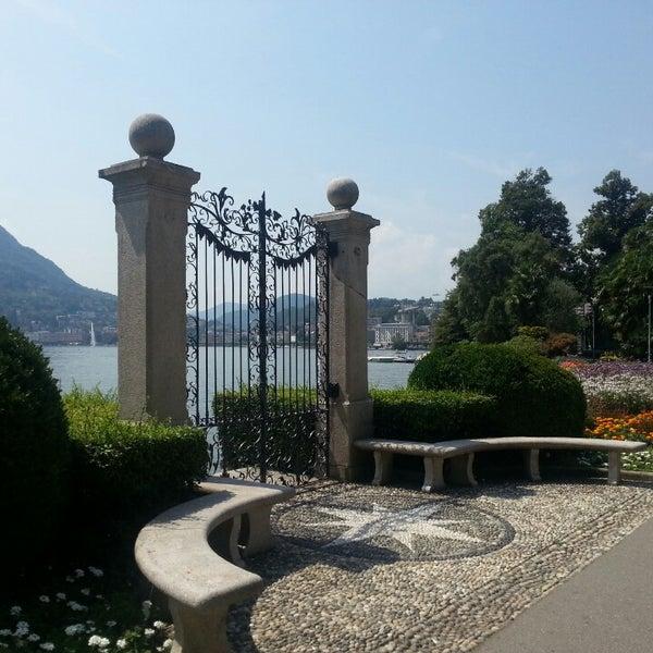 Photo taken at Lago di Lugano by Julija L. on 8/6/2013