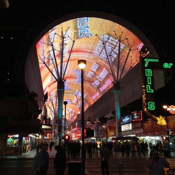 Photo taken at Fremont Street Experience by Jackson P. on 1/24/2013