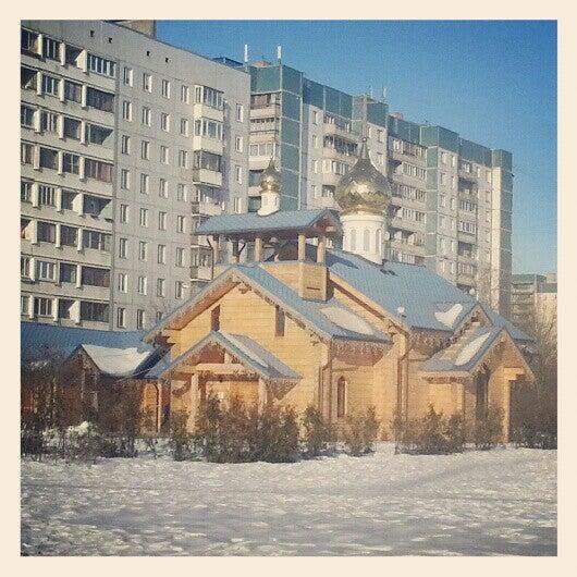 Photo taken at Храм святого Николая Чудотворца by Inga on 3/3/2013
