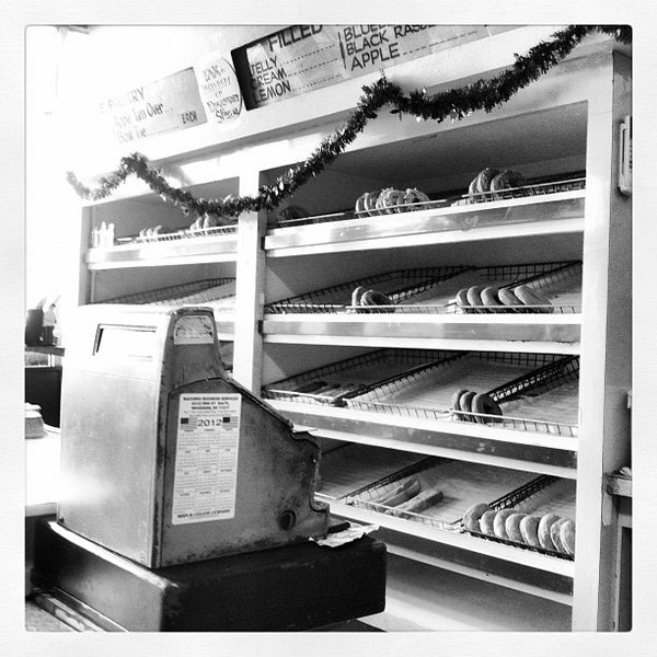 Photo taken at Alpha Donuts by S. G. on 12/5/2012