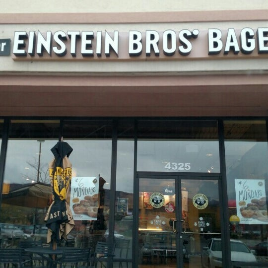 Photo taken at Einstein Bros Bagels by Garry E. on 11/4/2015