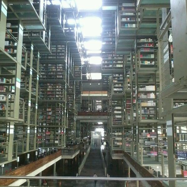 Photo taken at Biblioteca Vasconcelos by Abraham H. on 5/15/2013