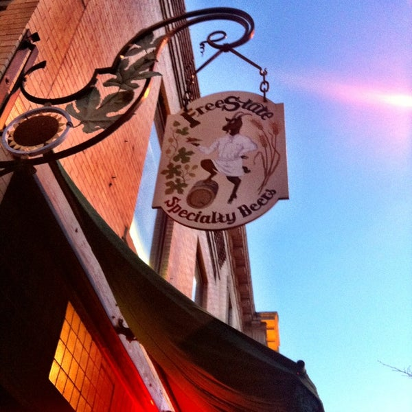 Photo taken at Free State Brewing Company by Michele K. on 1/26/2013
