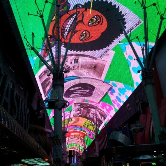Photo taken at Fremont Street Experience by Christopher P. on 1/29/2013