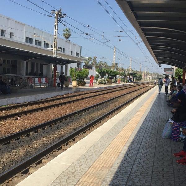Photo taken at Gare de Mohammédia  محطة المحمدية by Toufik R. on 4/8/2017