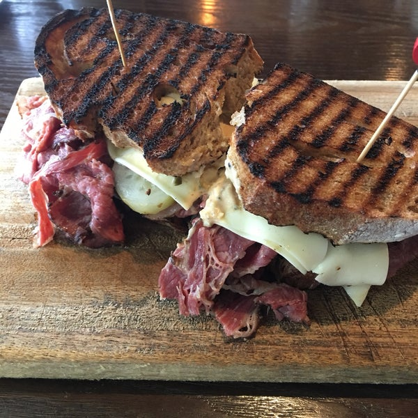 Pastrami sandwich is enough for two!