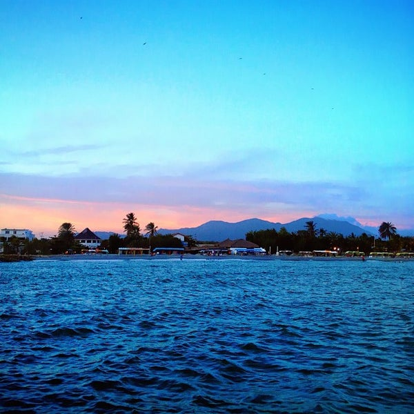 Photo taken at Playa El Yaque by Alejandro U. on 4/22/2013
