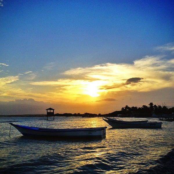 Photo taken at Playa El Yaque by Alejandro U. on 5/9/2013