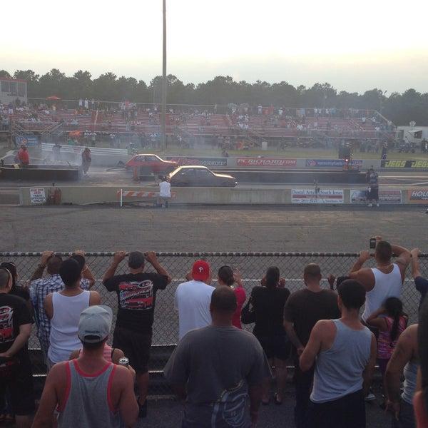 Photo taken at Atco Raceway by Margarita K. on 7/20/2013