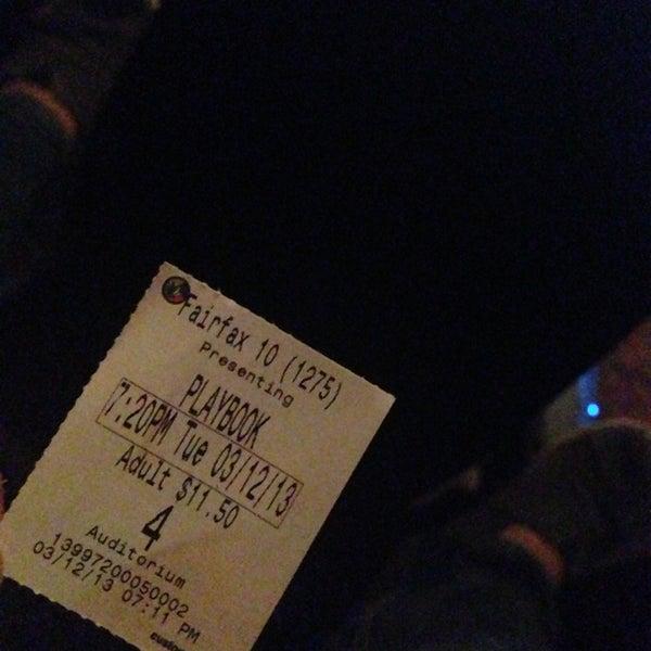 Photo taken at Regal Cinemas Fairfax Towne Center 10 by Fahad A. on 3/12/2013