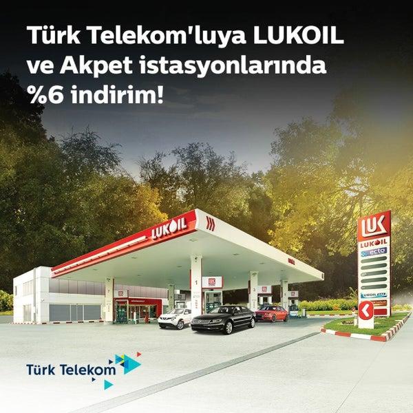 Türk Telekom abonelerine özel kampanyamız başladı! Benzin ve motorinde %6 oranında indirim kazanmak için istasyonlarımıza bekleniyorsunuz! Detaylar: http://bit.ly/2hw5MrX #LukoilTürkiye #LUKOIL