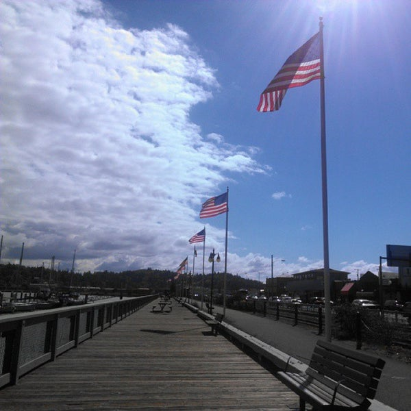 Photo taken at Coos Bay Boardwalk by Michael A. on 9/16/2013