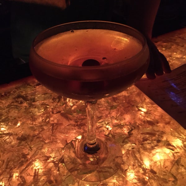 brooklyn cocktail: rye whiskey, vermouth, maraschino liqueur, and bitters