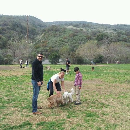 Photo taken at Laguna Canyon Dog Park by Hakan G. on 2/2/2013