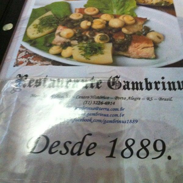 Foto tirada no(a) Gambrinus por Leninha R. em 6/6/2013