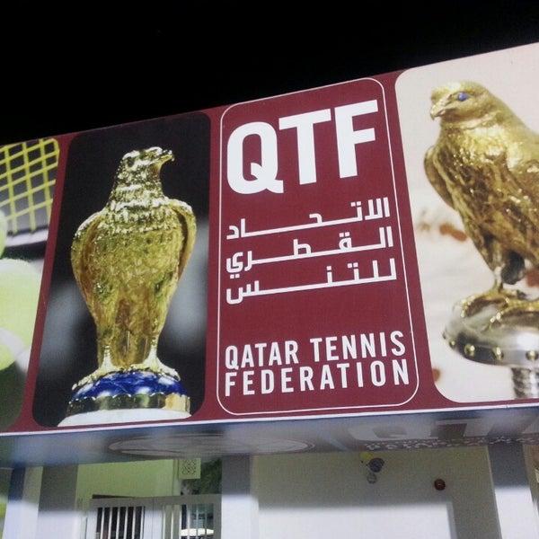 Photo taken at Qatar Tennis Federation by Mirco M. on 8/18/2013