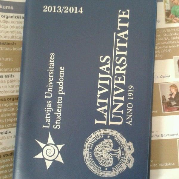 Photo taken at University of Latvia by Līva D. on 7/22/2013