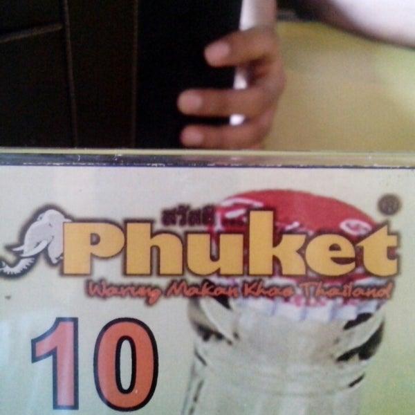 Photo taken at Phuket Thai Resto by Arief D. on 5/26/2013