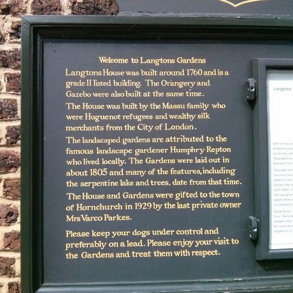 Photo taken at Langtons Gardens by Steve C. on 8/8/2013