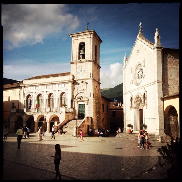 Photo taken at Norcia by Petr L. on 7/27/2014