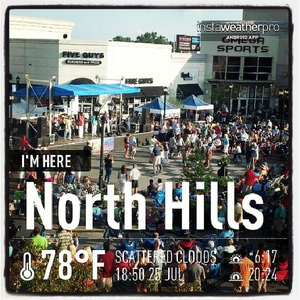 Photo taken at North Hills Shopping Center by Leesa F. on 7/25/2013