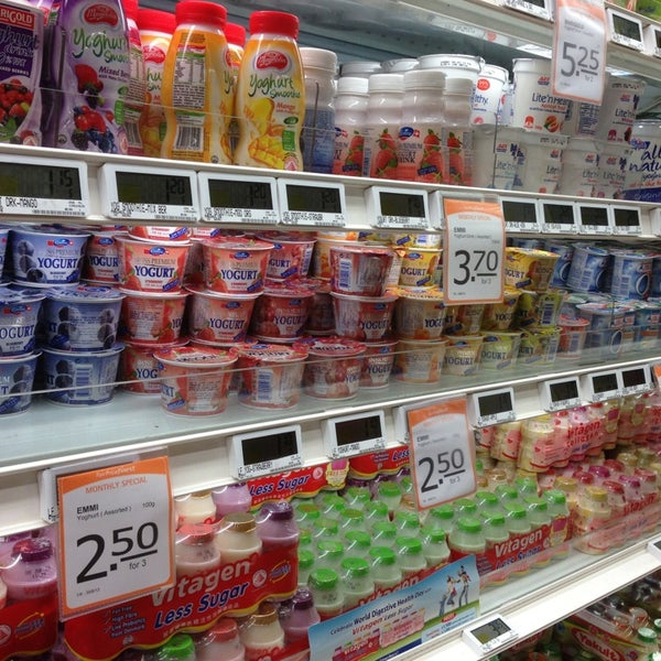 Photo taken at NTUC FairPrice by Stephanie O. on 6/16/2013