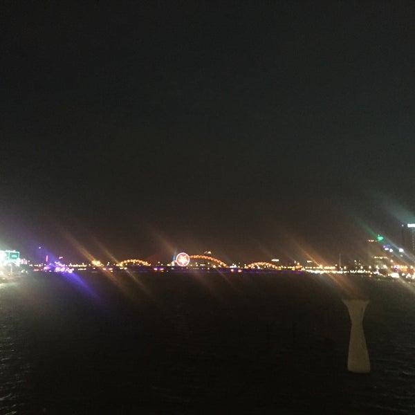 Photo taken at Han River Bridge by Alexey N. on 1/20/2016