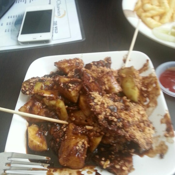 The rojak buah is so delicious!! They just opened the stall..