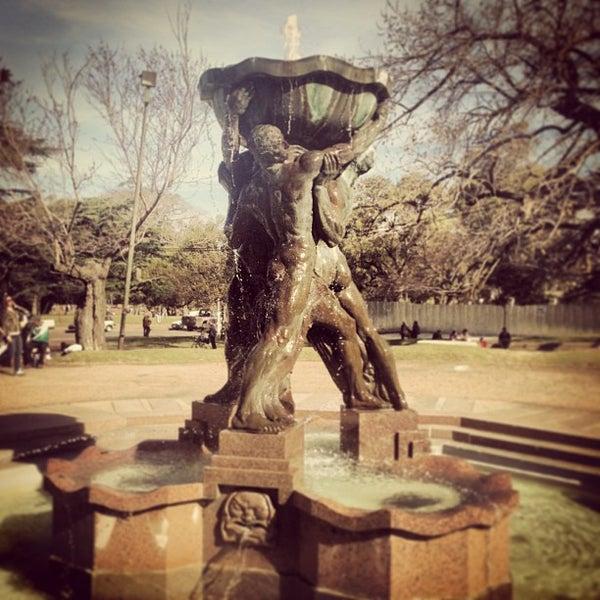 Photo taken at Parque José Enrique Rodó by Flavio G. on 9/1/2013