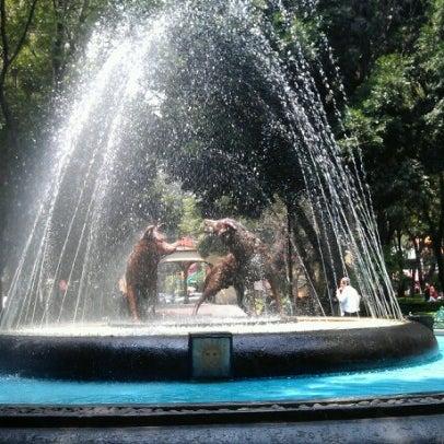 Photo taken at Jardín Hidalgo by Emmanuel A. on 9/14/2012