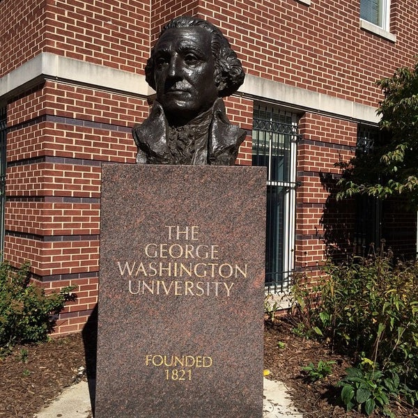 Photo taken at The George Washington University by Esteban L. on 10/19/2014