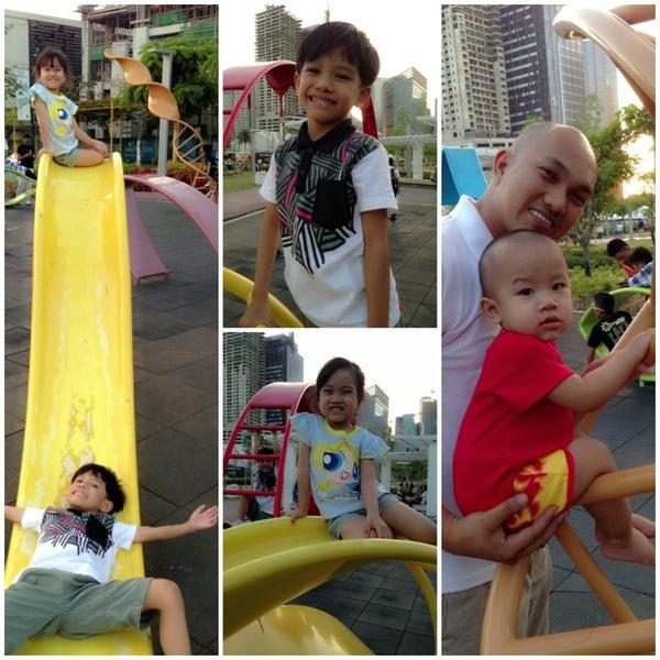 Photo taken at Bonifacio High Playground by Chyl T. on 3/20/2013