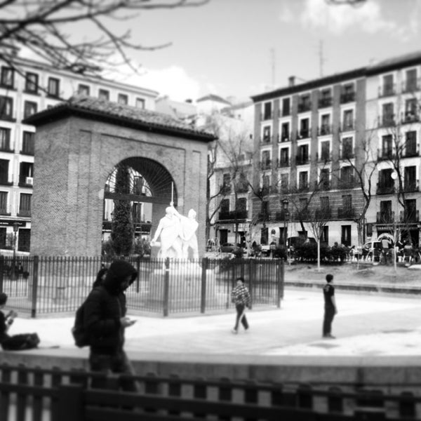 Photo taken at Plaza del Dos de Mayo by Valentina R. on 3/1/2013