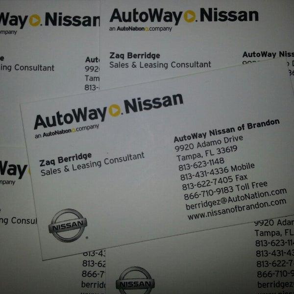 Photo Taken At AutoNation Nissan Brandon By Zaqueray B. On 3/7/2013