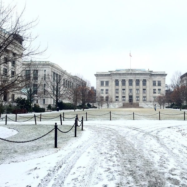 Photo taken at Harvard Medical School Quadrangle by cartoonztnz w. on 1/16/2015