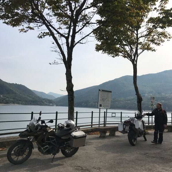 Photo taken at Lago di Suviana by Anke N. on 9/29/2017