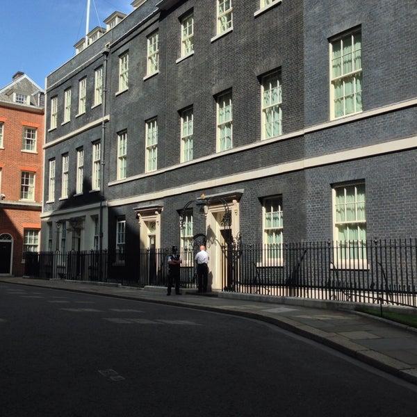 Photo taken at 10 Downing Street by Ben K. on 8/21/2013