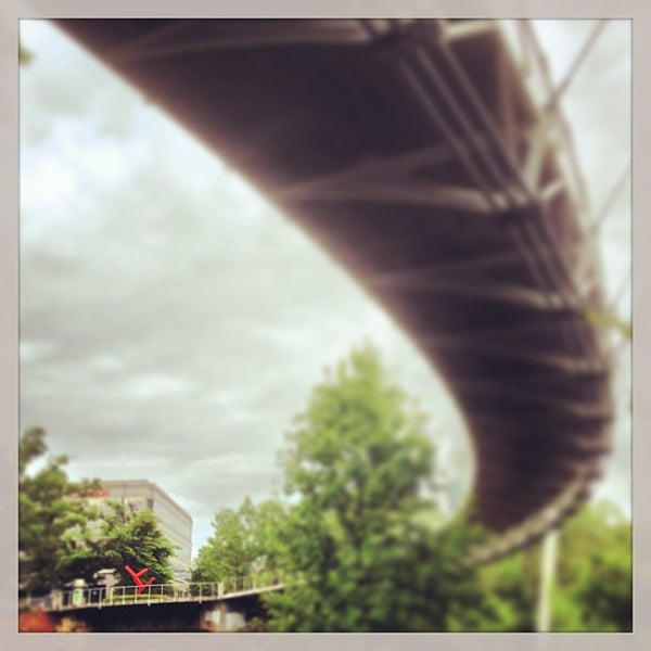 Photo taken at Liberty Bridge by Stephen H. on 5/13/2013