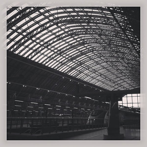 Photo taken at London St Pancras International Railway Station (STP) by Aude P. on 7/19/2013
