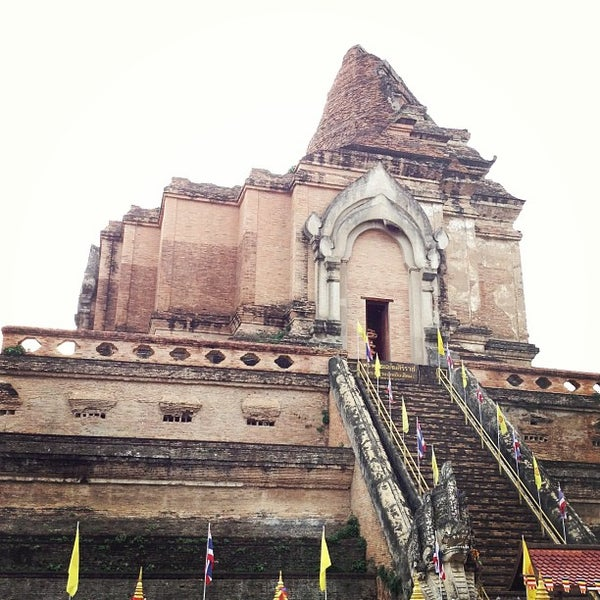 Photo taken at Wat Chedi Luang Varavihara by Chayoot S. on 7/14/2013