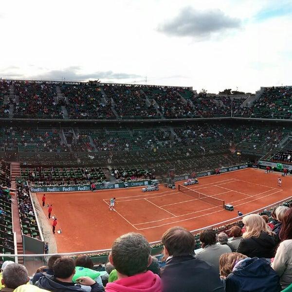 Photo taken at Stade Roland Garros by Stewart M. on 5/28/2013