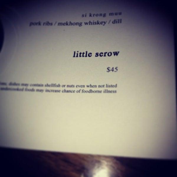 Das Foto wurde bei Little Serow von Ben H. am 12/29/2012 aufgenommen