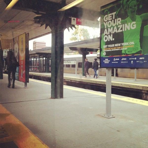 Photo taken at Metro North - North White Plains Station by Tigran M. on 10/11/2014