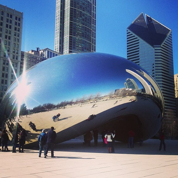 Photo taken at Cloud Gate by Anish Kapoor by Adam B. on 3/13/2013
