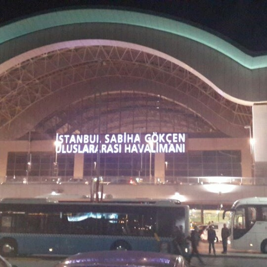 Photo taken at Istanbul Sabiha Gökçen International Airport (SAW) by Uqur I. on 11/10/2013
