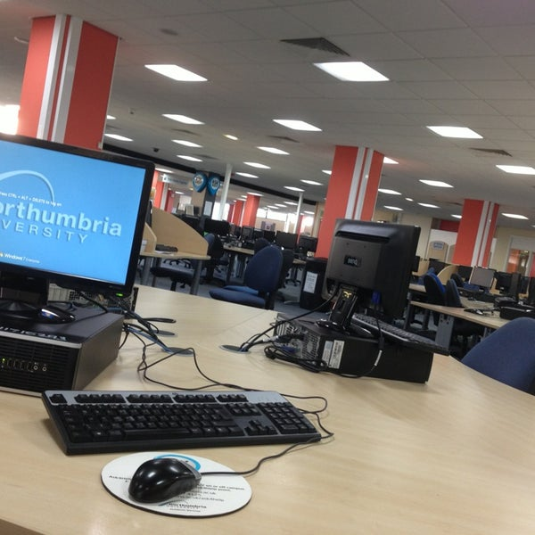 Photo taken at Northumbria University Library by Aloo on 7/27/2013
