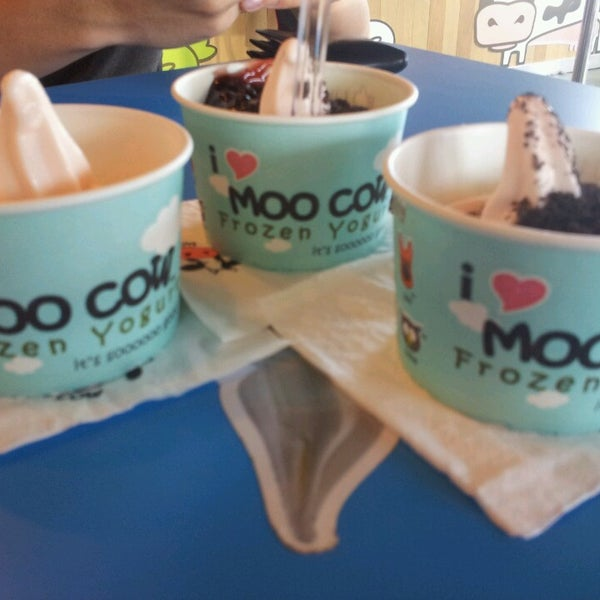 moo cow frozen yogurt Grab a cup of moo cow frozen yogurt in the yummy original or seasonal flavour and add the toppings of your choice location sign in toggle navigation close.